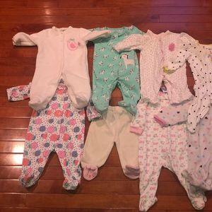 Other - 13 infant pajama onesies bundle!!